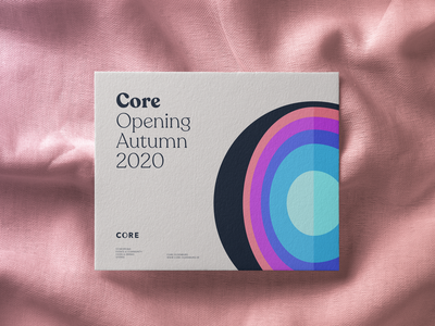 CORE Opening Teaser core opening mockup print invitation design logo branding brand experience