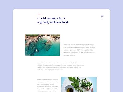 Blog Design branding blog design blog webdesign greece vacation retreat ui design ocean light brand experience