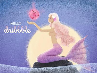 hello dribble design illustration