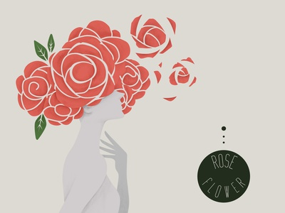 Rose women design illustration