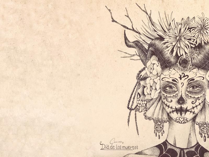 Dia de los muertos illustration design