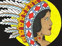 Native American Flash Illustration