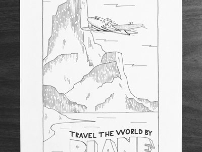 Dribbble travel the world by plane nicholas moegly
