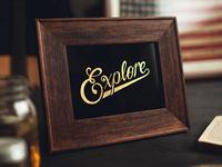 Explore Reverse Gilded & Screen Printed Glass