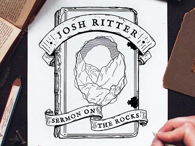 Josh Ritter T-Shirt Design band shirt josh ritter banner hand drawn book t-shirt shirt