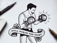 Boxer Sketch WIP
