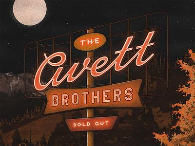The Avett Brothers - Mobile, AL Poster