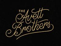 The Avett Brothers Lettering