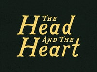 The Head And The Heart Lettering
