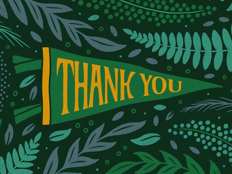 Thank You Greeting Card nicholas moegly oxford pennant plants leaf leafs ferns foliage thank you card greeting card