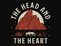 The Head and the Heart - Red Rocks Key Art