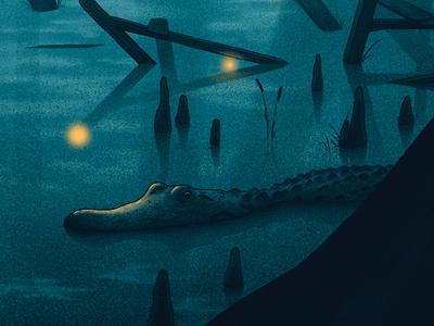 Murky Waters moegly nicholas moegly night fireflies lightning bugs water avett brothers swamp alligator
