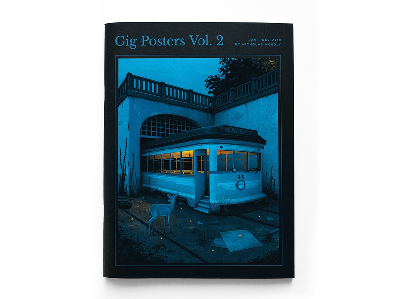 Gig Posters Vol. 2 Zine illustration book art book band poster portfolio illustration gig posters zine gig poster