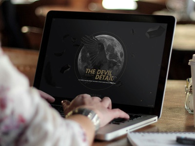 2015 Update website crow stones feather moon animated animation site personal update design landing page