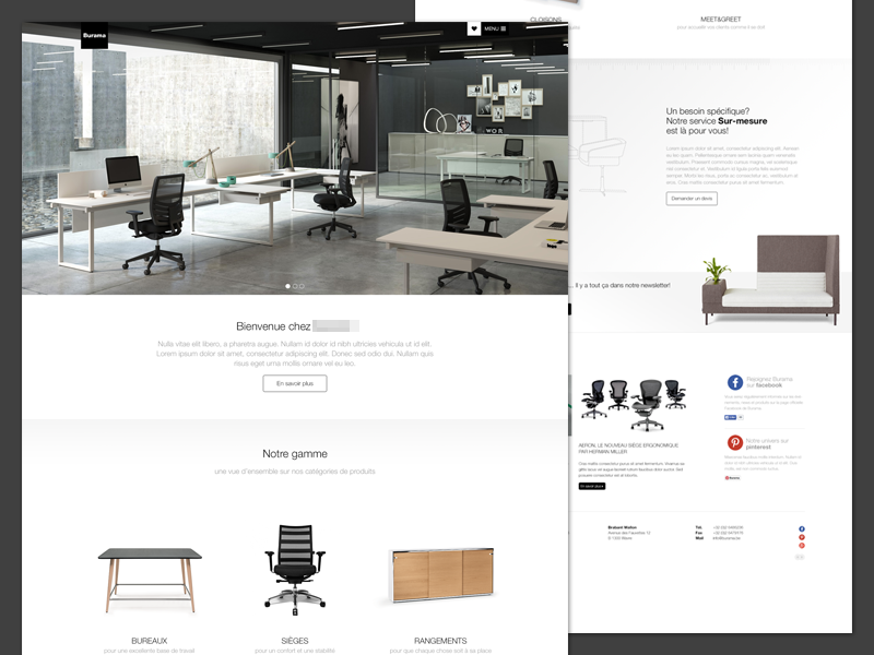 Fine Office Furniture Website By Thomas Van Der Vennet On Dribbble Gmtry Best Dining Table And Chair Ideas Images Gmtryco