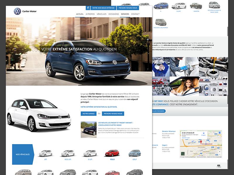 Independent Volkswagen Dealer design homepage responsive website dealer auto car volkswagen