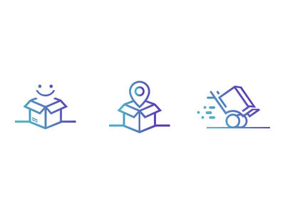 Delivery Icons happy smile marker map gradient icons tracking track shipping service delivery