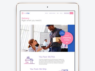 Easydrop homepage