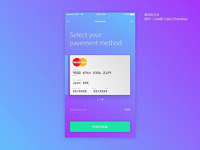 #dailyUI 002 Credit Card Checkout design mobile card credit sketch ux ui dailui checkout