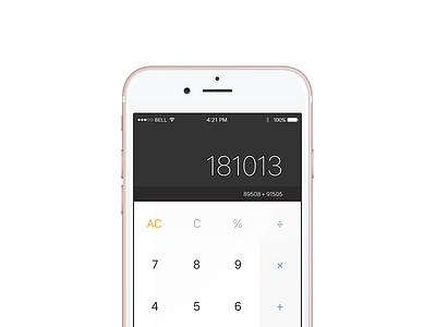 #dailyUI 004 - Calculator ux ui daily web design design minimal calculator