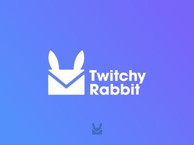 #ThirtyLogos - 003 - Twitchy Rabbit animal identity logos design challenge rabbit branding thirtylogos