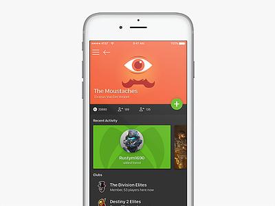 #dailyUI 006 - User Profile design mockup ux ui daily profile user mobile challenge daily ui xbox
