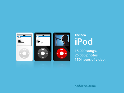 Tribute to my fellow Ipod Video bloody sunday sunday u2 bono black white tribute video apple ipod