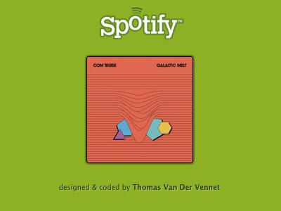Mini Desktop Player [CSS] spotify desktop player audio music minimal tiny cover bowtie