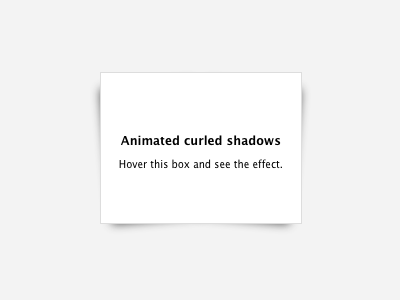 Curled Shadows [CSS]  css shadow curled jsfiddle