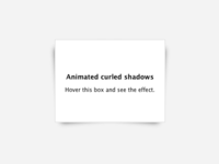 Curled Shadows [CSS]