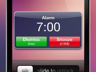 Wake Up or Pay app ios idea snooze alarm