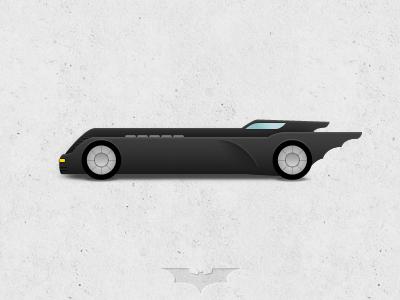 Batman: The Animate Series - Batmobile batman rebound batmobile the dark knight tdkr car