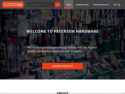 Paterson Hardware Mockups web icon branding ui figma minimal design