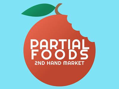 Partial Foods Logo weeklywarmup logo vector branding flat illustration minimal figma design