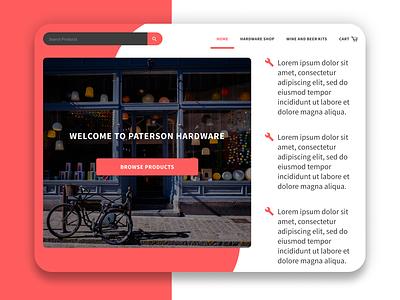 Patterson Hardware Update website web flat ui minimal figma design
