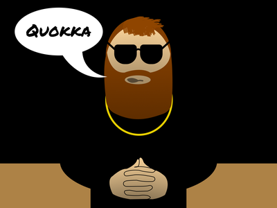 Quokka Guy illustrator website web icon vector flat illustration minimal figma design