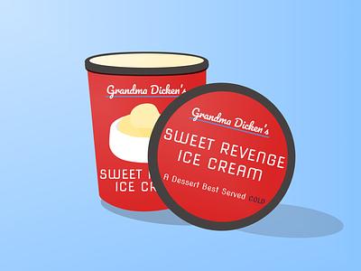 Sweet Revenge weeklywarmup package design logo branding vector flat illustration minimal figma design