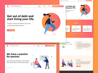 Redesigning An Old Project typography web branding vector ui flat illustration minimal figma design