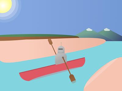 RowBot - Weekly Warmup #6 dribbbleweeklywarmup vector minimal illustration figma design