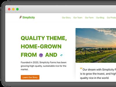 Simplicity Itself - Gatsby/TailwindCSS Theme web branding design logo ui gatsby tailwindcss