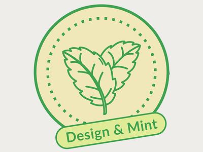 Design & Mint Logo Concept coins coin coin logo mint green minimal leaf logo leaf mint logo design logo design branding