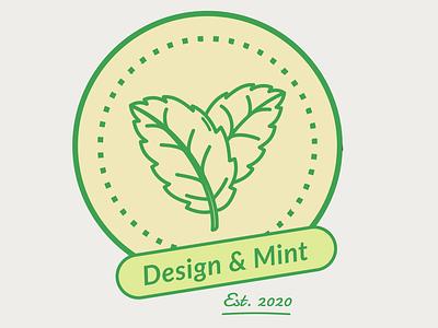 Design & Mint Logo Concept 2 mint mint green branding design coin coins leaf logo leaf coin logo logo