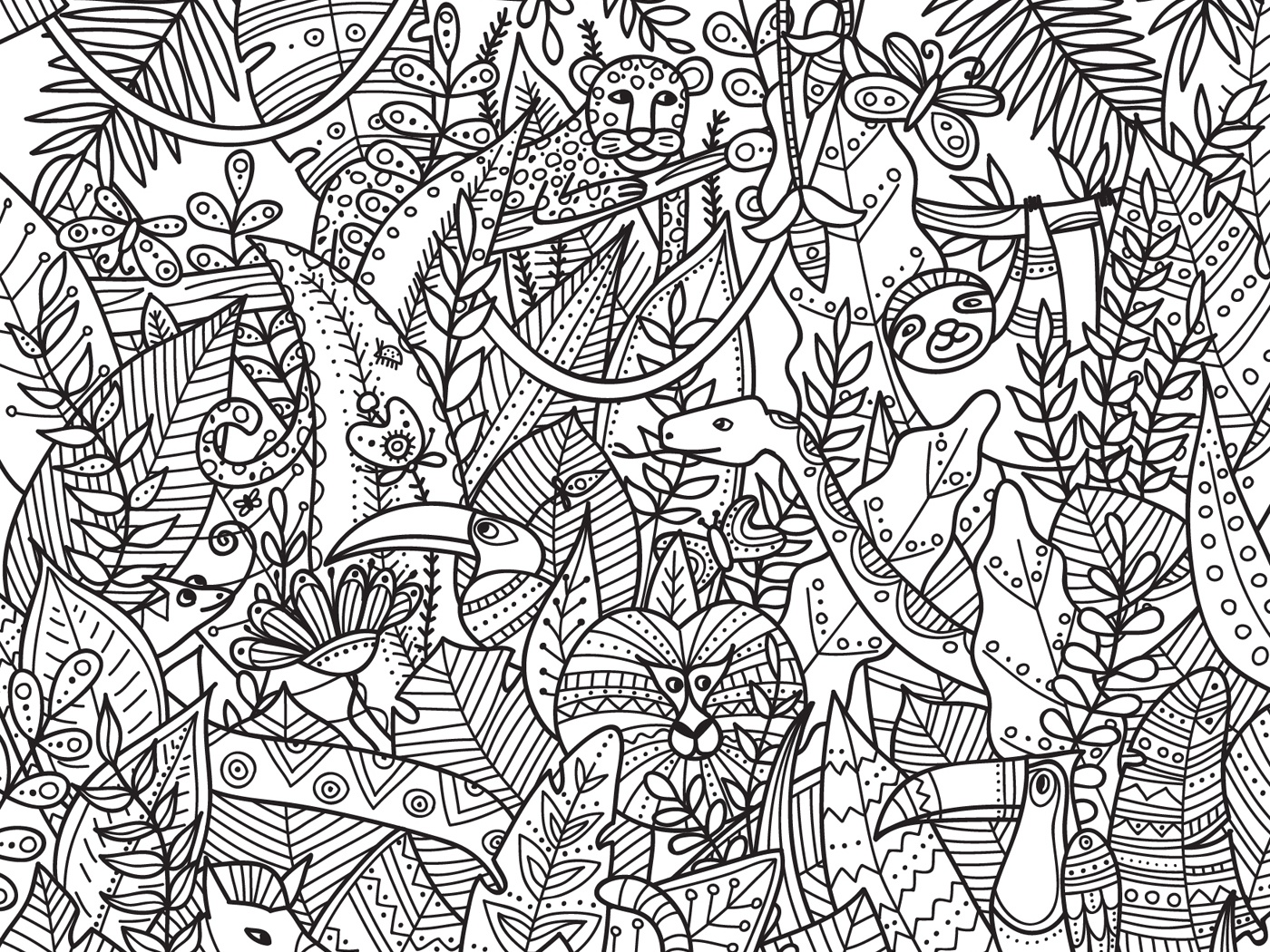 - Jungle Coloring Page By Yuliia Bahniuk On Dribbble