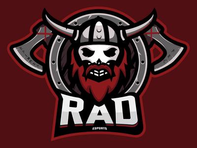 Viking Skull Mascot Logo