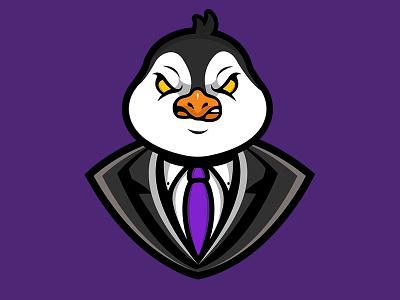 Suit Penguin Mascot Logo illustration suit logo penguin logo penguin suit mascot design esportslogo esports logo mascotlogo mascot logo penguin mascot logo