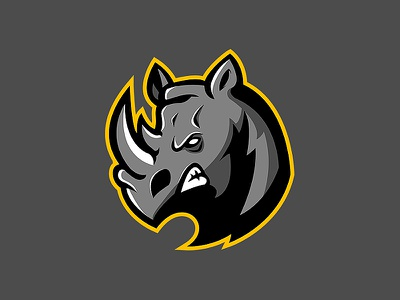 DorivaGames rhino logo rhino esports logo branding logo design illustration esports