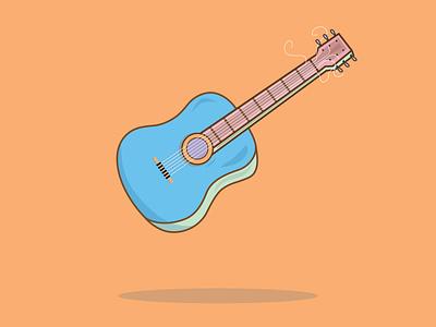 Broken Guitar Strings illustration digital illustration design vector minimal burnt toast neon dashboad icon flat sticker design illustration