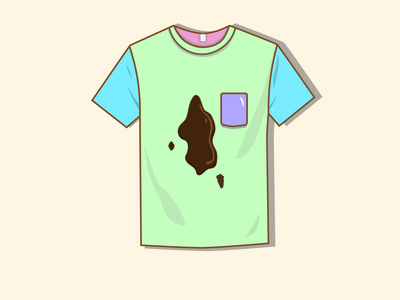 Stained T-Shirt jacsmith tshirtdesign tshirt art colorful illustrator logo burnt toast illustration neon typography sticker vector dashboad design