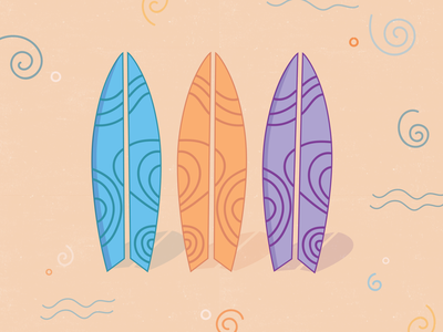 Surfs Up flat logo burnt toast design illustration icon vector sticker dashboad surfing summertime