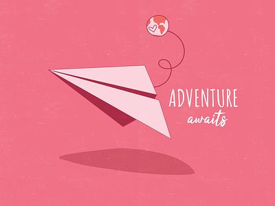 Adventure Awaits adobe illustrator icons adventure minimal illustrator illustration typography flat vector dashboad design logo